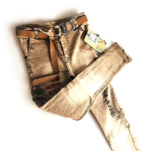 Brown Jeans With Belt